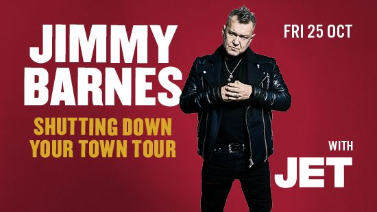 Jimmy Barnes is heading to the Newcastle Entertainment Centre with Special Guests Jet!