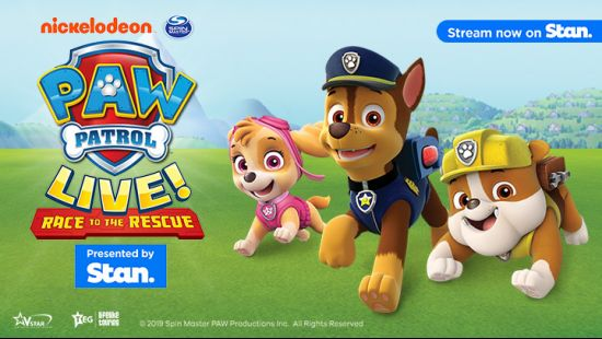 "PAW Patrol Live! ""Race to the Rescue"" Presented by Stan. Sunday show added!"